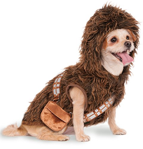 Wookie Costume Amazon (Rubies Costume Star Wars Chewbacca Hoodie Pet Costume, Large)