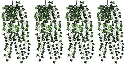 4 Bunchs Home Garden Wall Decoration Outdoor Atificial Fake Hanging Vine Plant Leaves Garland V2