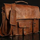 Leather Genuine Men's Auth Real Leather Messenger Laptop Briefcase Satchel Mens Bag (11X15)