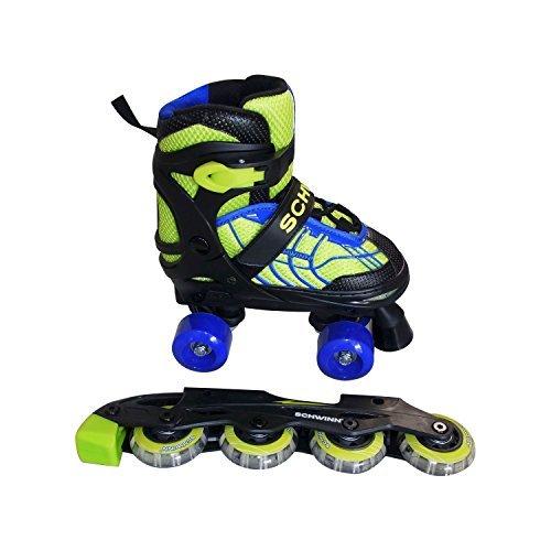 Line Hockey Bearings - Schwinn Boys' 2 In 1 Quad/Inline Skates