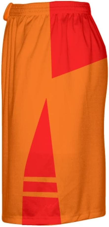 LightningWear Orange Red Lacrosse Short OG Lacrosse Shorts Mens Boys