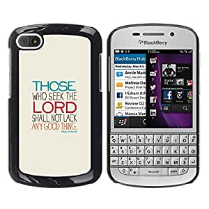 Impact Case Cover with Art Pattern Designs FOR BlackBerry Q10 Lord Seek Motivational Religious Meaning Betty shop