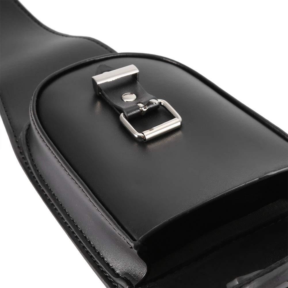 moto universale in pelle PU nera Serbatoio del coperchio del serbatoio Chap con custodia Borsa di copertura del serbatoio del carburante