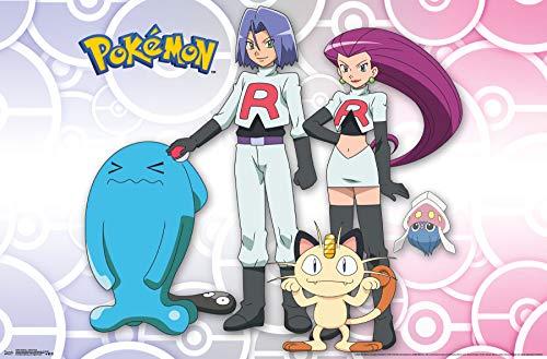 Trends International Pokémon-Team Rocket Mount Bundle Wall Poster 22.375