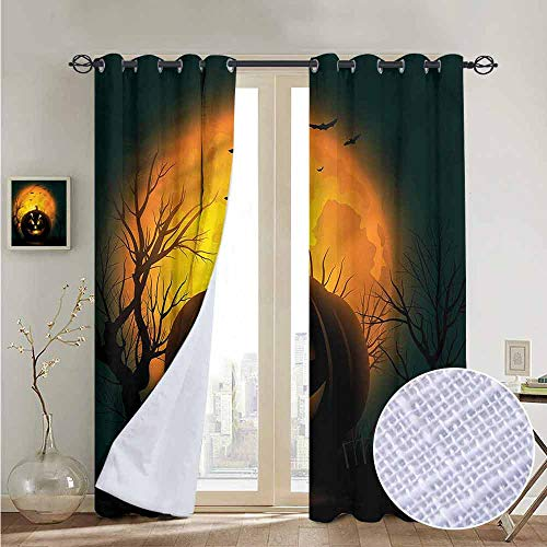 NUOMANAN Blackout Curtains Halloween,Fierce Evil Character,Thermal Insulated Panels Home Décor Window Draperies for Bedroom a100 x96]()