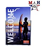 Marketing Holders Wall Mount Brochure Holder for Half Sheet Literature up to 5.5''w (Clear, 12)