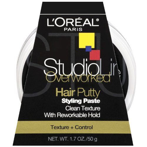 L'oreal Paris Studio Line Texture And Control Overworked Hair Putty Styling Paste, 1.7 Oz (2 Pack) by L'Oreal Paris