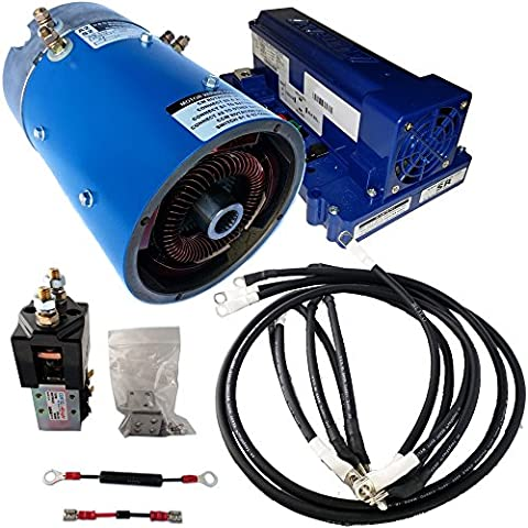 Golf Cart Motors - EZGO Motor & Controller combo for mainly Torque : Series (ITS) throttle : +70% Torque 12 mph - 170-004-0001 Motor w/ 500 Amp Controller(Green Option)- includes Solenoid & Wire - High Speed Golf Cart Motor