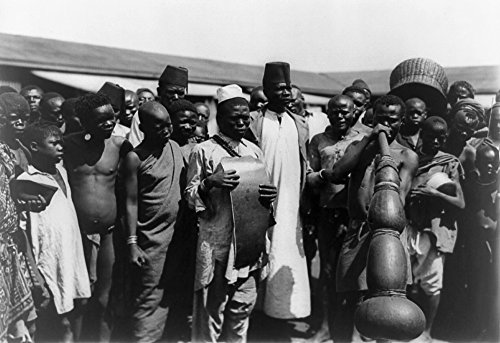 Kenya Musicians C1907 Npublic Gathering Around Men With Musical Instruments In Mombasa Kenya Photographed C1907 Poster Print by (18 x 24)
