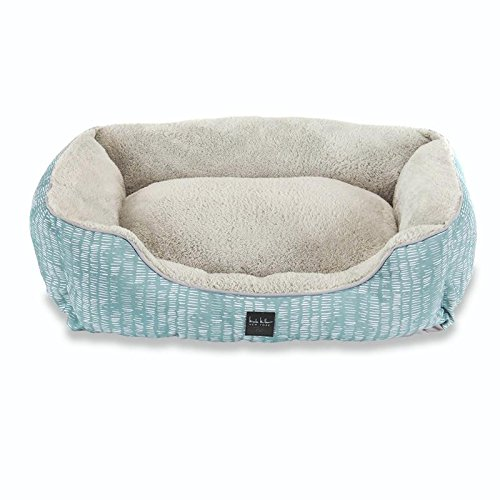 Home Dynamix Nicole Miller Comfy Pooch Pet Bed, 20x28 Cuddler, Teal Abstract