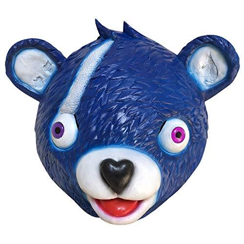フォートナイト Fortnite コスプレ グッズ ベア ラテックスマスク 自由のクマちゃん クマ かぶりもの パーティー コスプレ道具 仮装 小物 仮面 青の商品画像