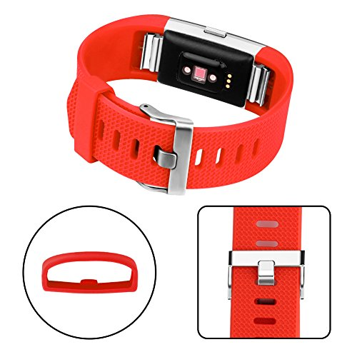 Vancle Fitbit Charge 2 Bands, Classic Edition Adjustable Comfortable Replacement Strap for Fit bit Charge 2 (No Tracker) (1PC (Tangerine), Large)