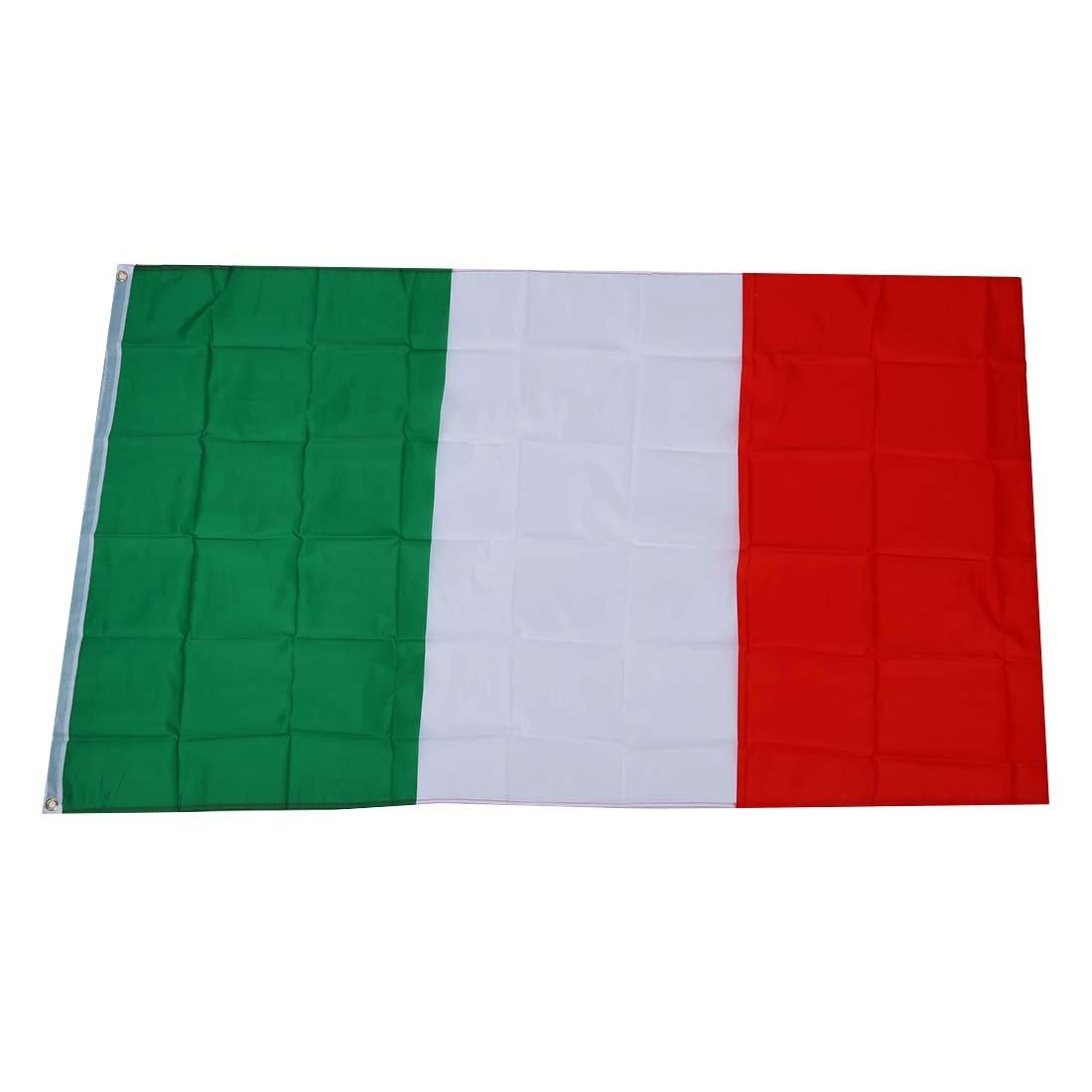 SODIAL (R) Grande 90x150cm 5 X 3FT tifosi Olimpiadi National Sports bandiere con passacavo - bandiera italiana SODIAL(R)