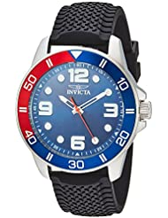 Invicta Mens Pro Diver Quartz Stainless Steel and Silicone Casual Watch, Color:Black (Model: 21938)