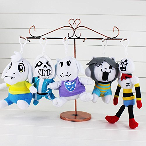 YOYOTOY 5Pcs/Lot Undertale Asriel Toriel Temmie Frisk Chara Undyne Stuffed Doll Plush Pendant Keychain Figure Toy Must Have Toys 7 Year Old Girl Gifts The Favourite Anime 5T Superhero Girls by YOYOTOY