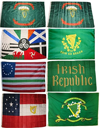 AES 3×5 3'x5′ Wholesale Set Irish Ireland Regiment Erin Republic Historic Flags Flag Fade Resistant Double Stitched Premium Quality