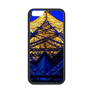 Yearinspace eiffel tower blue and yellow iPhone 6 Plus Cases, Protector Protective Case For Iphone 6 Plus {Black}