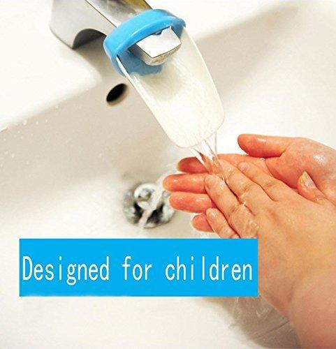 Baby Blue Bathroom Set: Hmost Faucet Extender-sink Handle Extender For Children