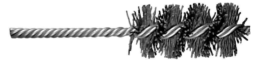 7//8 Diameter 3 Shank Length PFERD 84032 Power M-BRAD Double Stem//Double Spiral Tube Non-Wire Brush 7//8 Diameter 0.040 Wire Size 3 Shank Length 5-1//2 Length 5-1//2 Length Pack of 2 80 Grit Nylon//Silicon Carbide Bristles 0.040 Wire Size