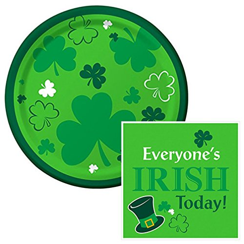 Everyone's Irish Dessert Napkins & Plates Party Kit for 8