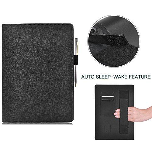 IVSO Lenovo Yoga Tab 3 Pro 10.1-Inch Funda Cover Slim-Book Case Funda Protectora de Cuero PU para Lenovo Yoga Tab 3 Pro 10.1-Inch Tablet (Negro)