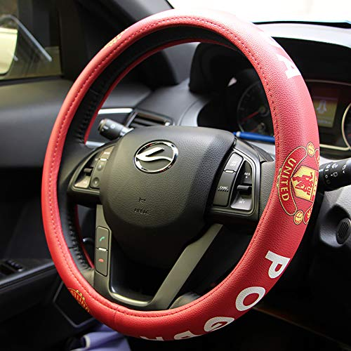 eing Car Steering Wheel Cover Football Team Universal 15 Inch Steering Wheel Cover - Manchester United Team