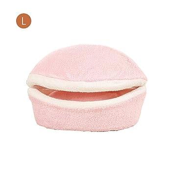 PROKTH Cama para Mascotas Calentador de Terciopelo de algodón Cama para Mascotas Antideslizante Lavable Lindo Nido