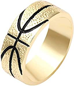 NOUMANDA Personalized Design Basketball Finger Ring Ball Lovers of Gifts
