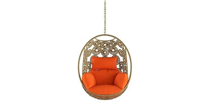 Urban Ladder Kyodo Metal Swing Chair (Orange)