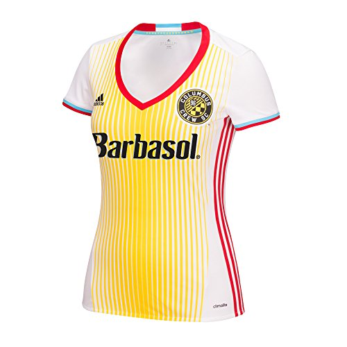 fan products of adidas MLS Columbus Crew SC Women's Replica Short Sleeve Team Jersey, White, Small