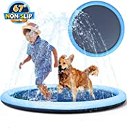 Non-slip Splash Pad Sprinkler for Kids Toddlers, Baby Pool, Adults Outdoor Games Water Mat Toys - Infant Wadin