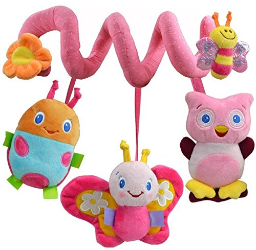 Parit Toy Hanging Bell Mobile New Musical Toys baby stroller Rattle Baby Bed Around Soft Ring Animal Rattles (Hot Air Balloon Hamper)