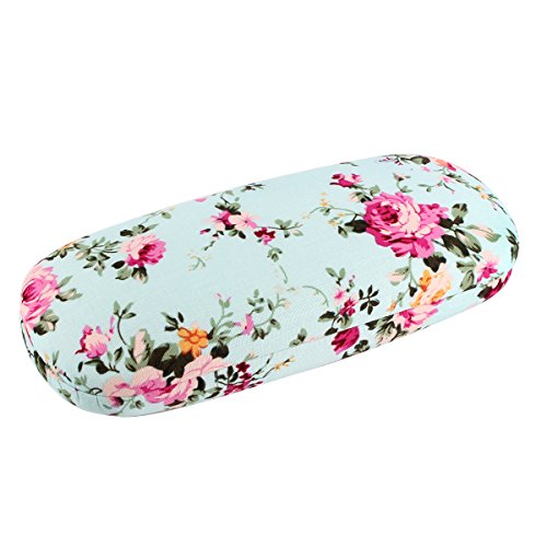 EZESO Fabrics Floral Retro Light Portable Eyeglasses Case (H)