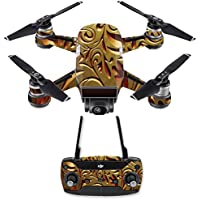 Skin for DJI Spark Mini Drone Combo - Mosaic Gold| MightySkins Protective, Durable, and Unique Vinyl Decal wrap cover | Easy To Apply, Remove, and Change Styles | Made in the USA