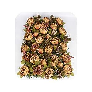 4060cm Luxury Customize Silk Peony Artificial Flower Wall Panel Grass Base DIY Backdrop Wedding Arch Decor Flower Wall Art 2pcs,B 68