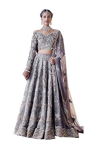 Collection Rakhi Partywear Grey Da 6 Bridal Choli Facioun Lehenga Ethnic Indian Wedding Designer Bollywood qqnZ4w80