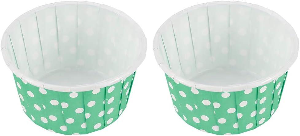 f/ête blanc anniversaire Fancyleo EU Lot de 100 grandes caissettes rondes en papier pour cupcakes pour mariage