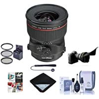 Canon TS-E 24mm f/3.5L II Tilt-Shift Lens U.S.A. Warranty - Bundle with 82mm Filter Kit (UV/CPL/ND2), Flex Lens Shade, Cleaning Kit, Lens Wrap (19x19), Professional Software Package, Capleash