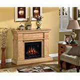 Everest Electric Fireplace Mantel in Travertine Marble - 23WM9029-S995 (MANTEL ONLY)