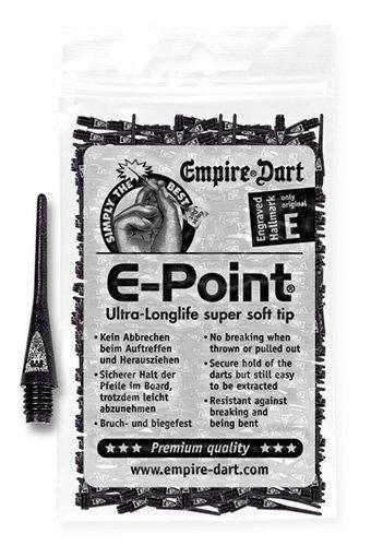 Empire E-Point 2BA - Puntas para dardos, color negro Empire Dart