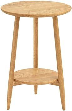 AYHa Mesita, Solid mesa redonda de madera, mesa auxiliar para sofá ...
