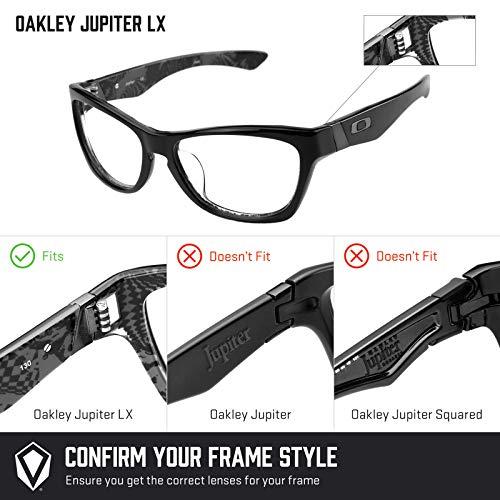 c712f07e4c5 Revant Polarized Replacement Lenses for Oakley Jupiter LX Black Chrome  MirrorShield®  Amazon.co.uk  Clothing