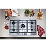 !!!ON SALE NOW!!! 34' Electric Stainless Steel Built-in Kitchen NG/LPG 5 Burner Gas Hob Cooktop
