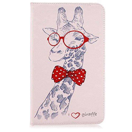 Galaxy Tab E 8.0 Book Case, Giraffe Fashion Leather Flip ...