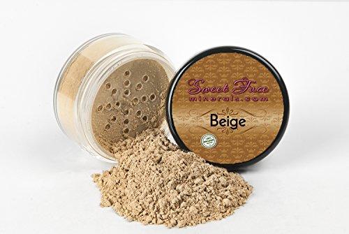 - BEIGE FOUNDATION Sample to Bulk Sizes Mineral Makeup Matte Jar Bare Face Powder Sheer Natural Cover (30 Gram Sifter Jar)