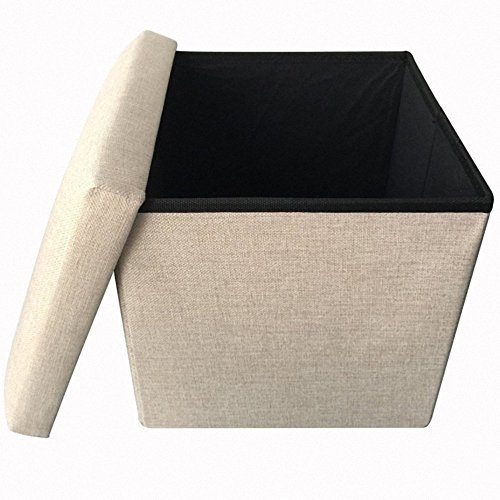 Storage Ottoman Polyester Folding Stool Collapsible 15