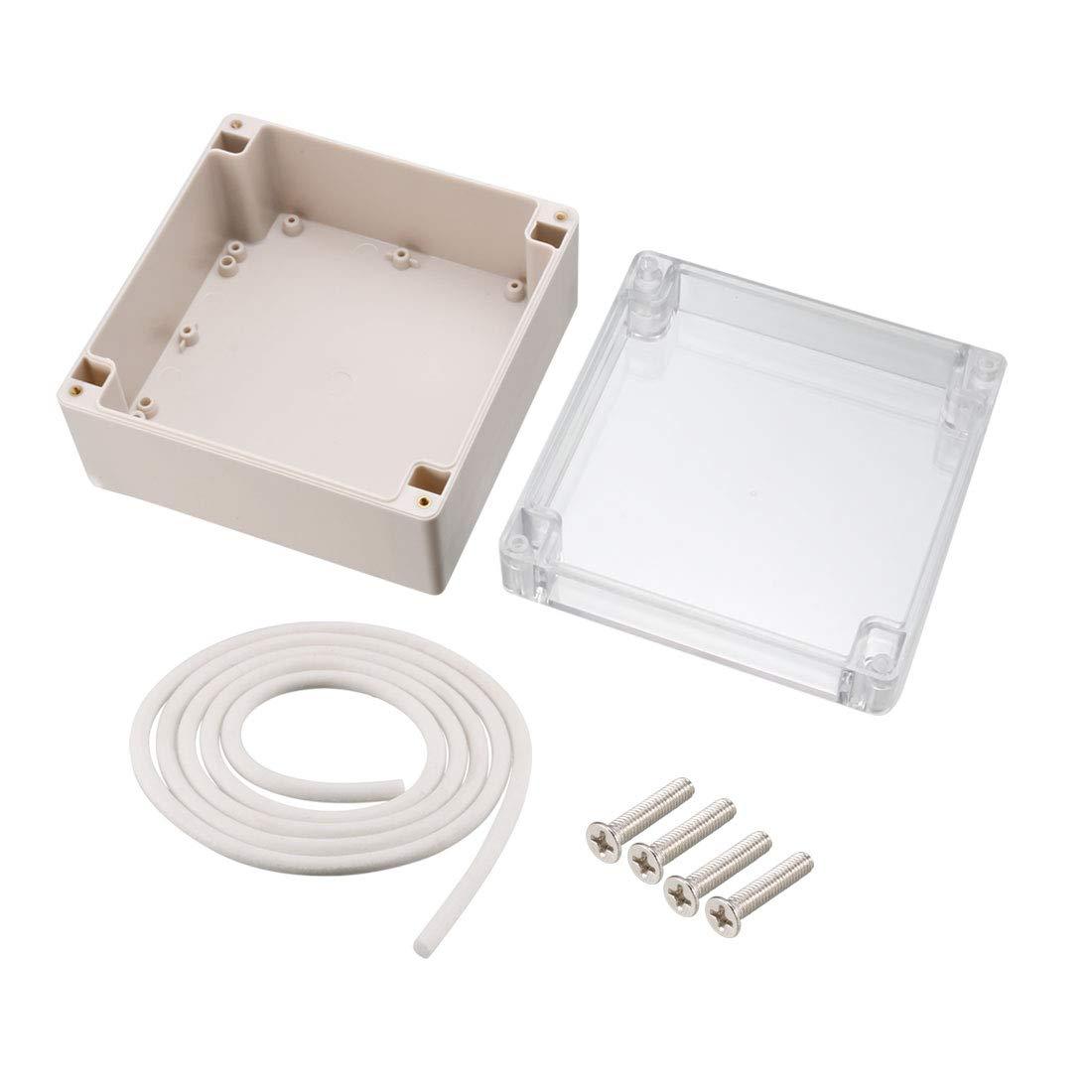 Sourcingmap 160/x 160/x 90/mm//16/x 16/x 9/cm Angle de rayonnement IP67/120/Electronic Plastique ABS DIY boite de jonction projet de bo/îte Coque ext/érieur//int/érieur avec housse clair