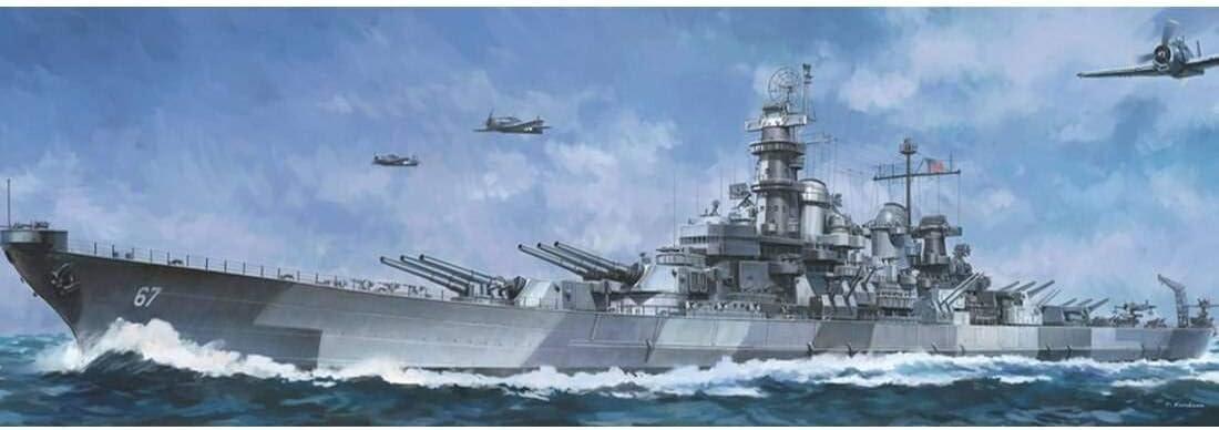 Amazon Com 1 350 Blue Ridge Models Uss Montana Bb 67 Battleship Plastic Model Kit Toys Games