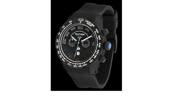 Bultaco H1Sb48C-Sb5 - Reloj Scandium Limited Correa Silicona Negro: Amazon.es: Relojes
