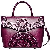 09aa019b7c PIJUSHI Designer Handbags For Women Floral Purses Leather Satchel Bags  (6923 Violet)